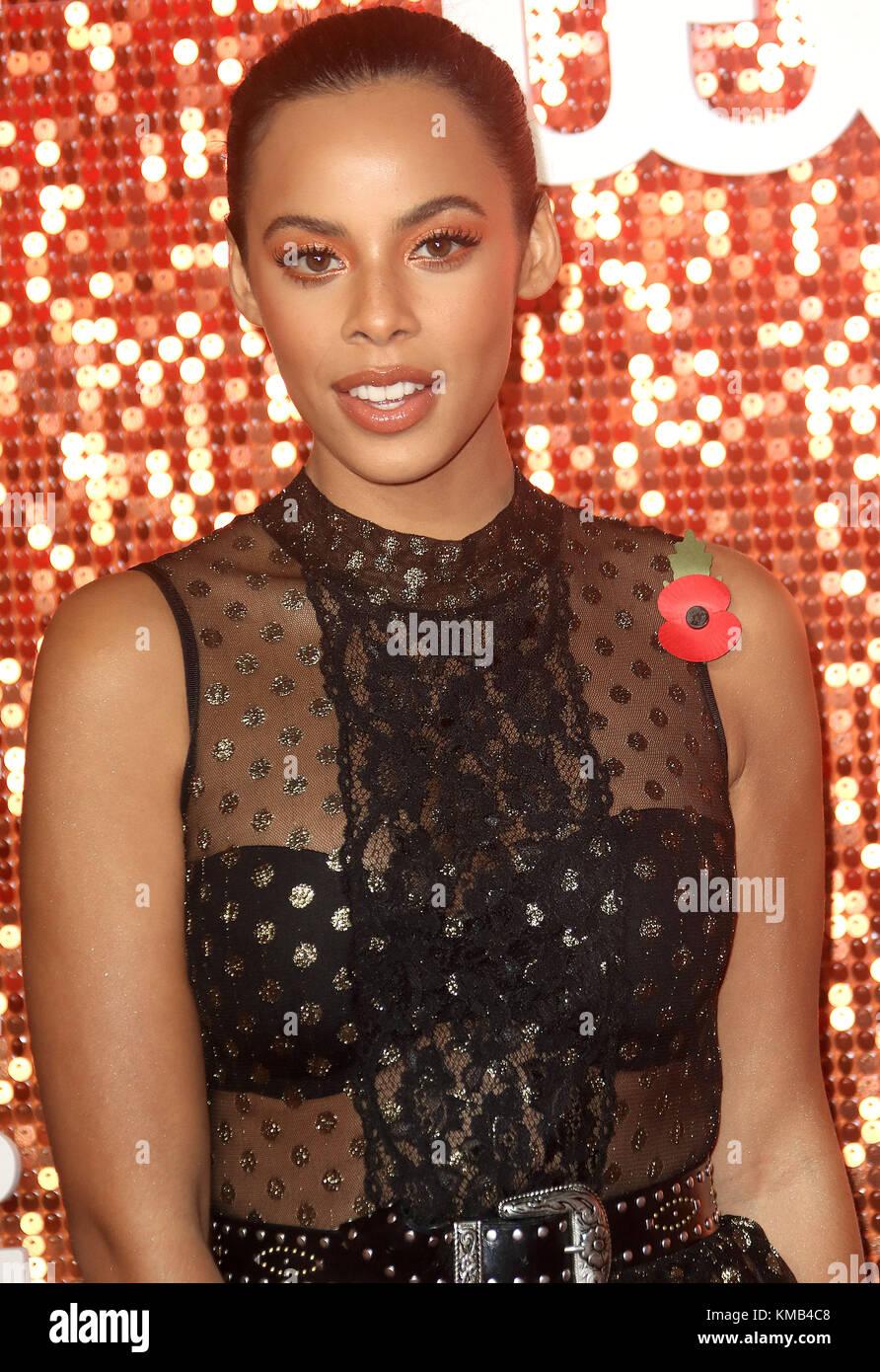 Nov 09, 2017 - Rochelle Humes attending ITV Gala 2017, London Palladium in London, England, UK - Stock Image