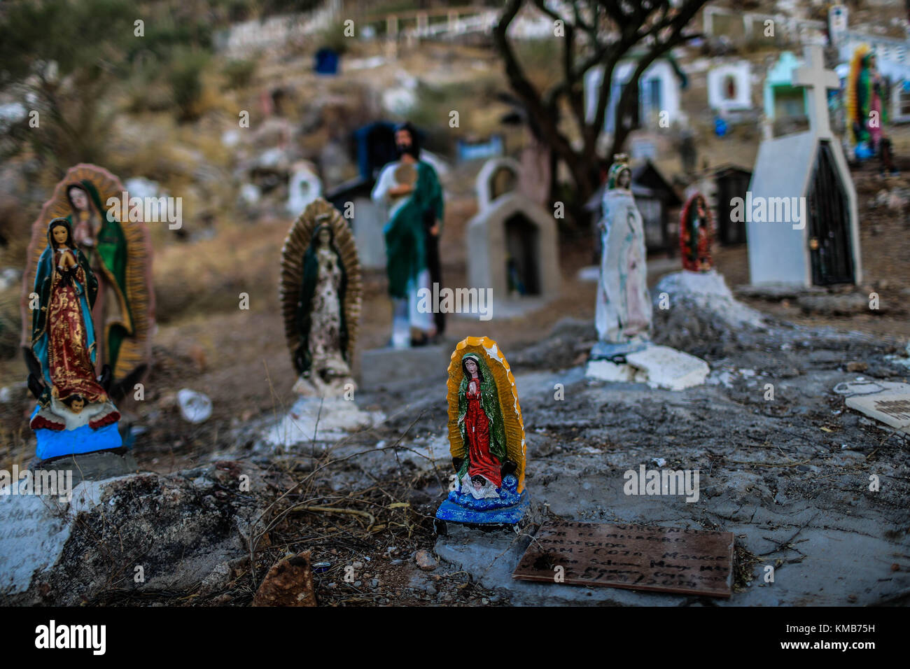 Pilgrimage of believers, faithful and devoted to the Virgin of Guadalupe, mother of Jesus Christ. Tens of thousands Stock Photo