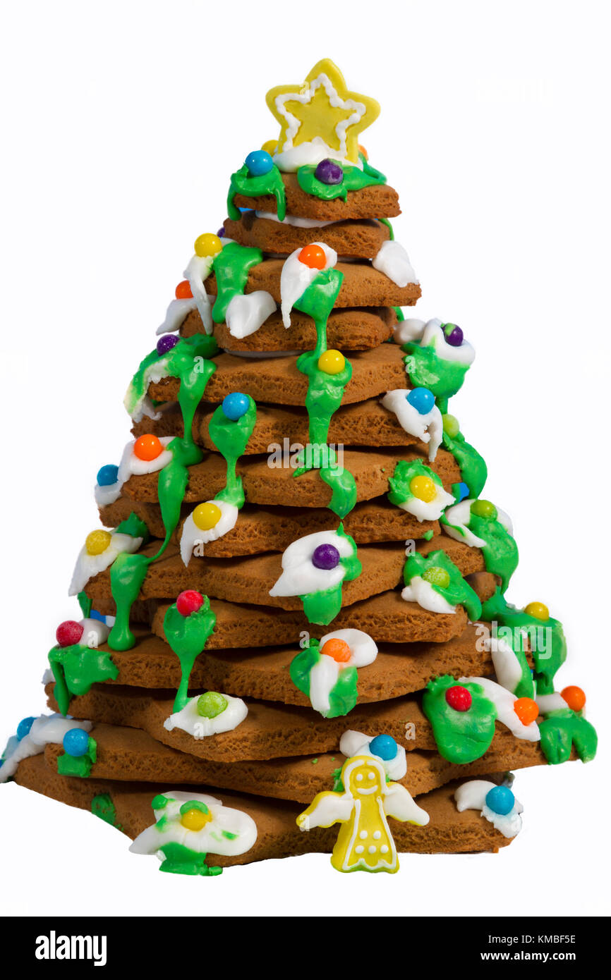 gingerbread christmas tree stock image - Gingerbread Christmas Tree Decorations
