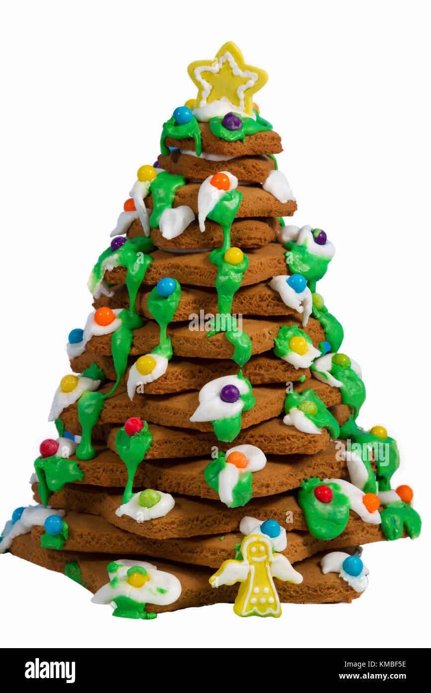 gingerbread christmas tree stock image - Gingerbread Christmas Tree