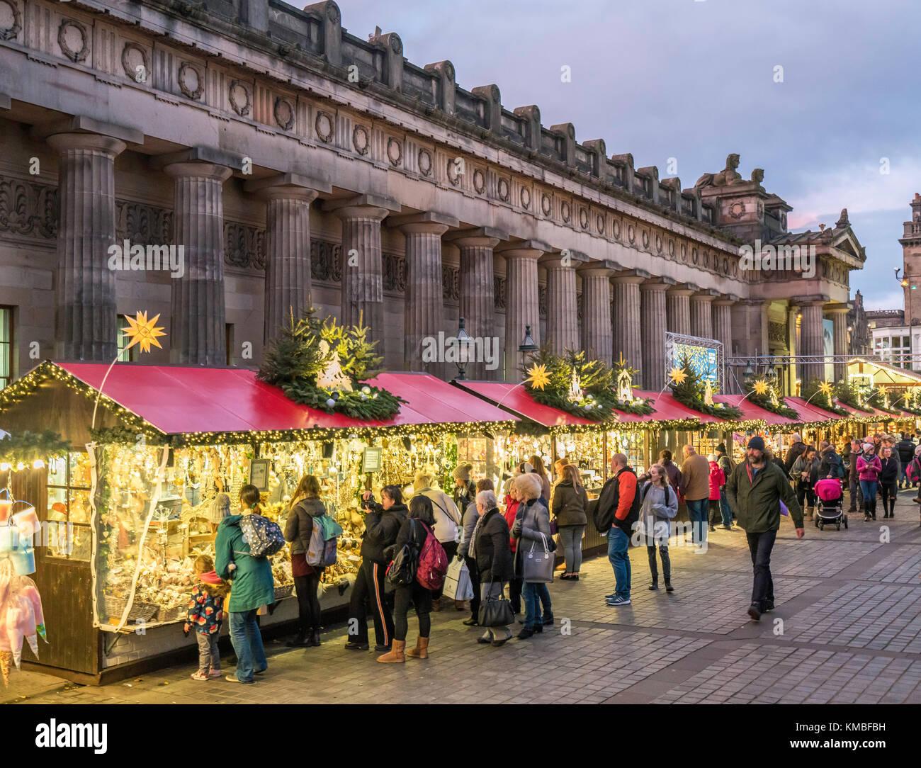 Edinburgh Christmas Stock Photos & Edinburgh Christmas