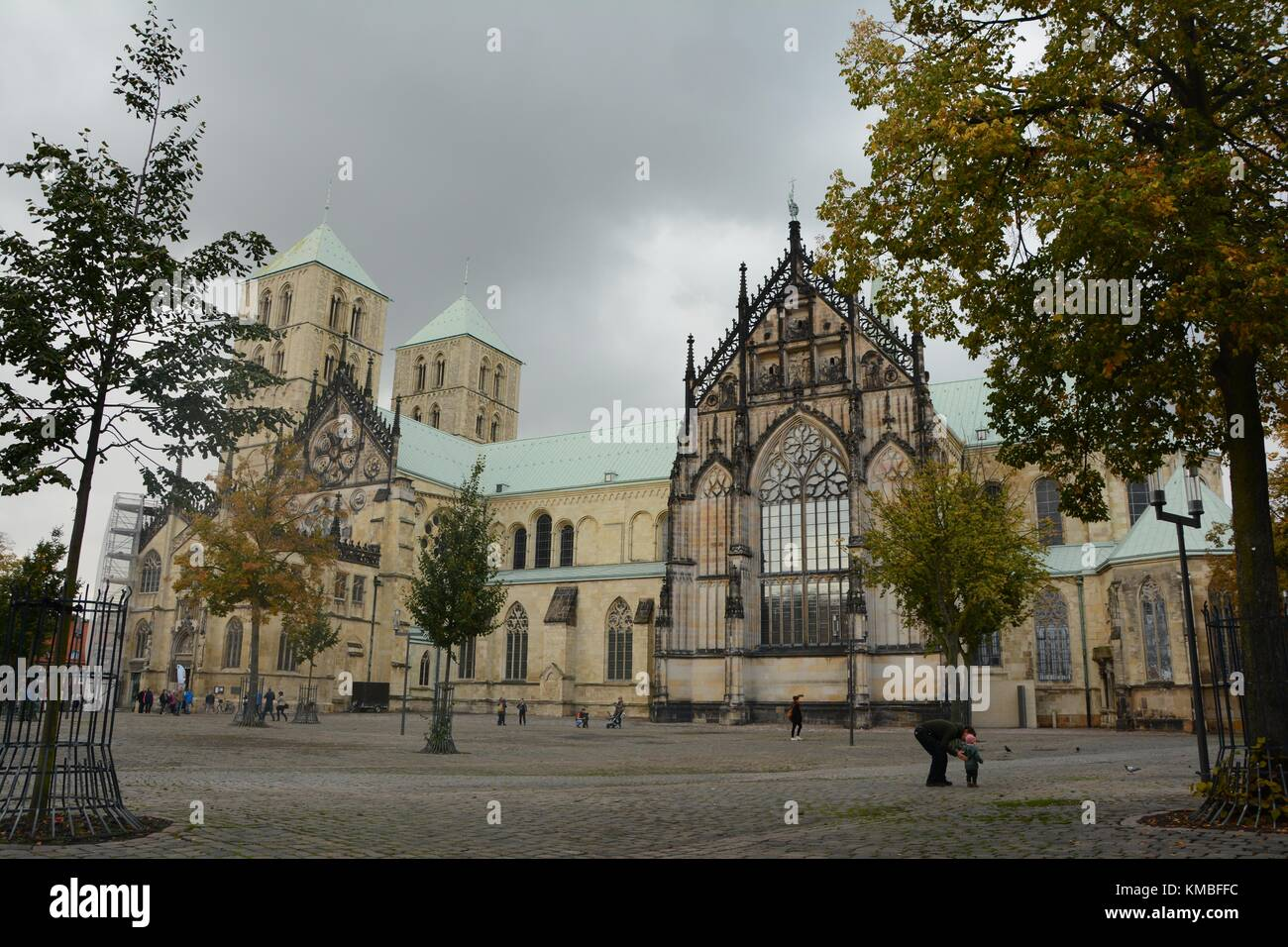 Münster Cathedral, The Cathedral Church of Saint Paul St.-Paulus-Dom, Münster, North Rhine-Westphalia, Germany Stock Photo
