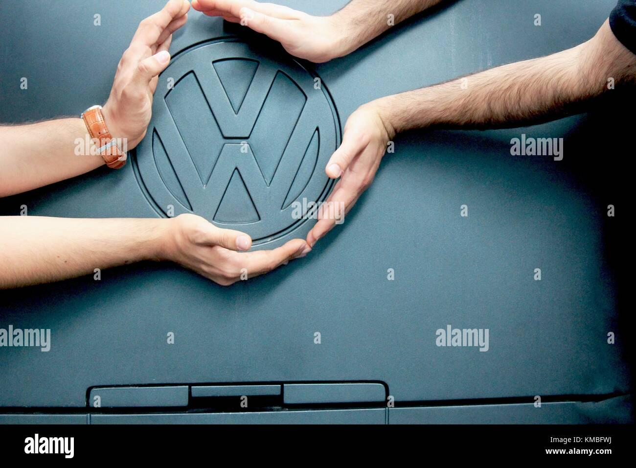 Logo of Volkswagen - Stock Image