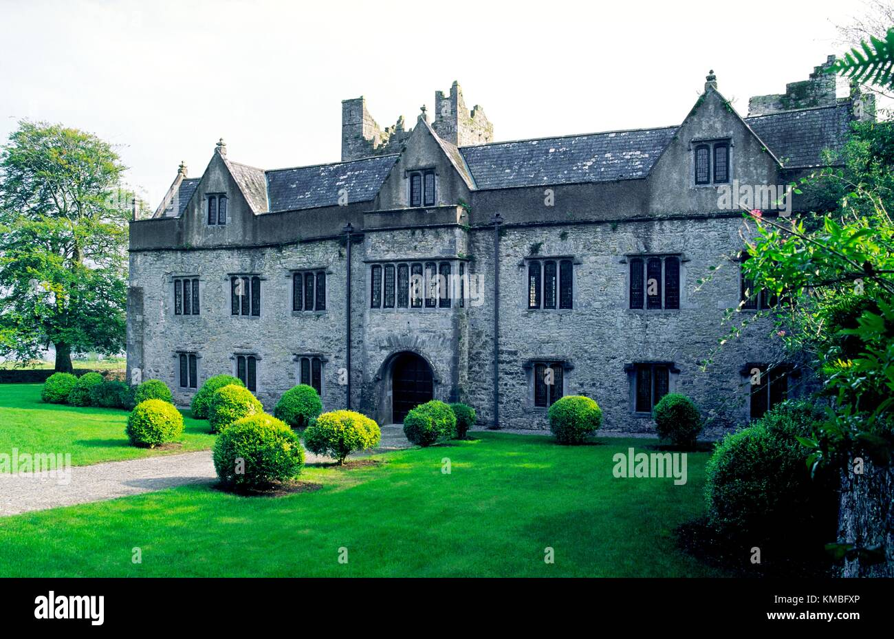Tudor period front of Ormond Castle in the town of Carrick on Suir, County Tipperary, Ireland. - Stock Image
