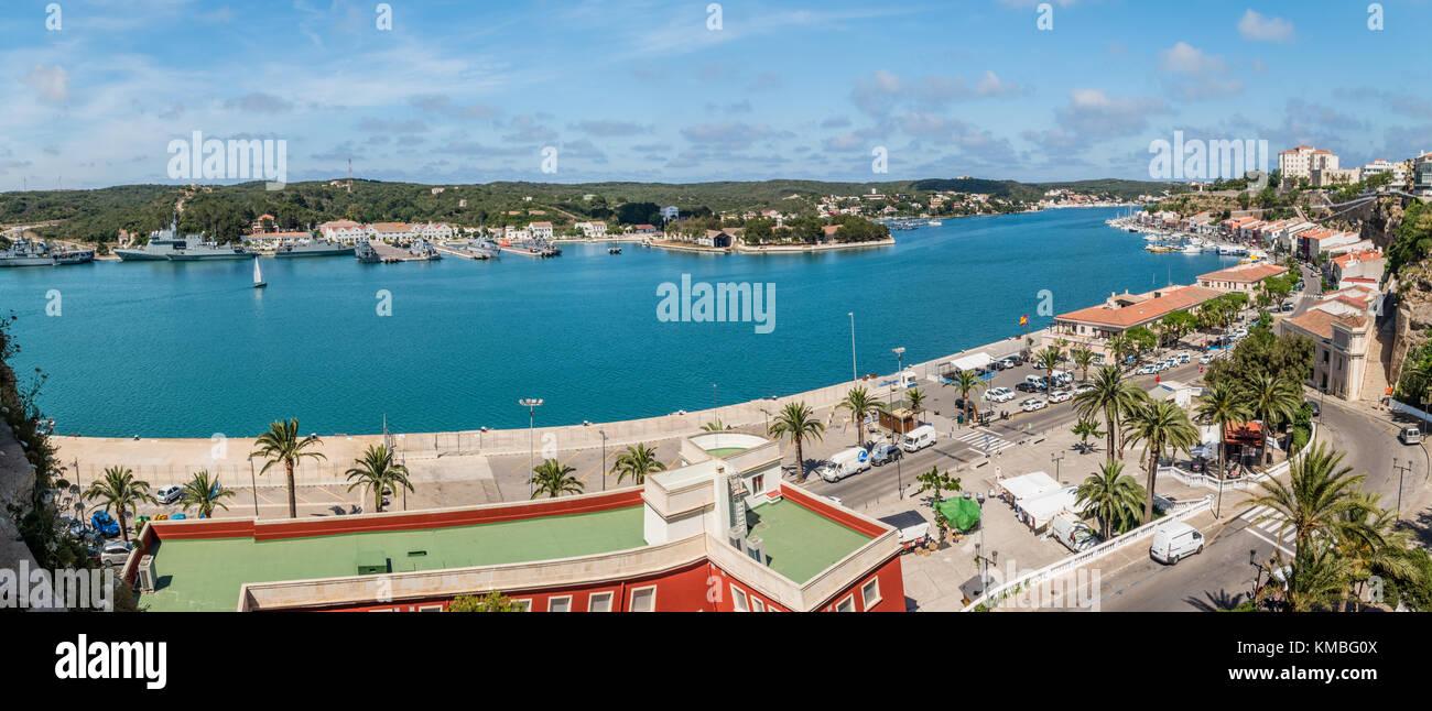 Mahon panoramic view - Stock Image