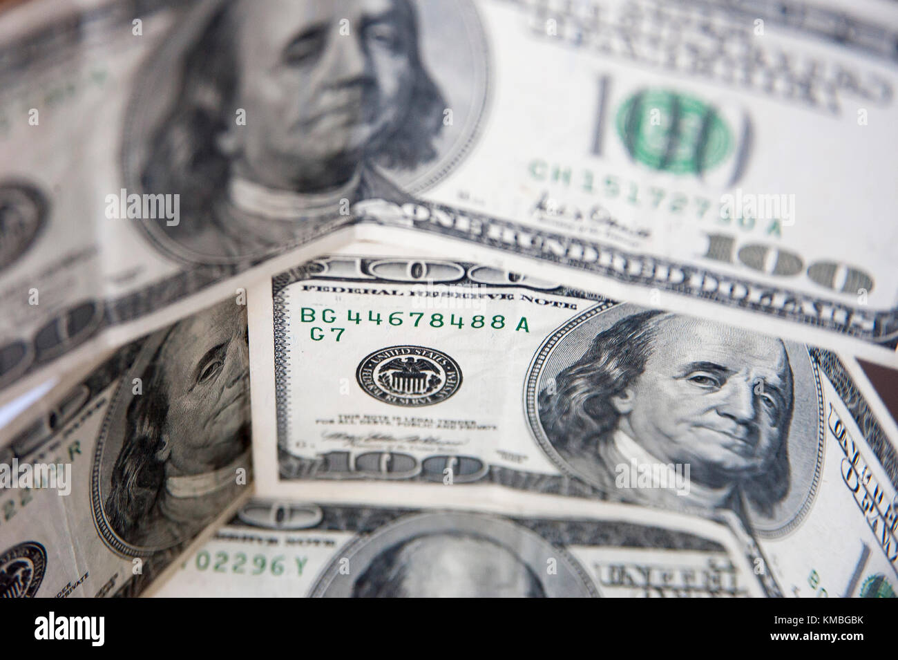 The United States one hundred-dollar bill ($100) with Benjamin Franklin © Wojciech Strozyk / Alamy Stock Photo - Stock Image