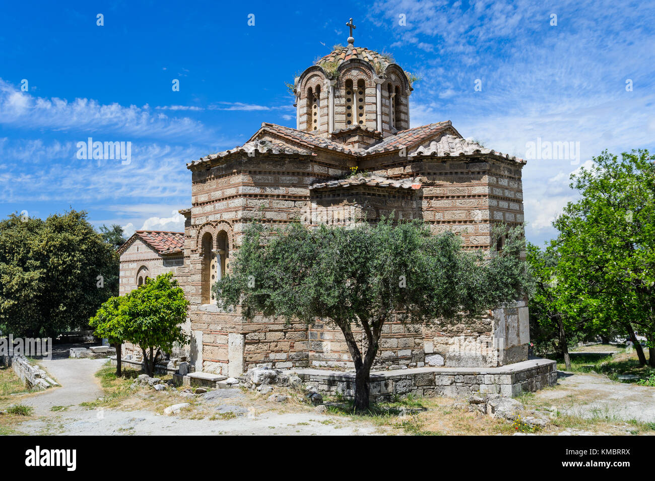 The church of the Holy Apostles in Athens, Greece Stock Photo
