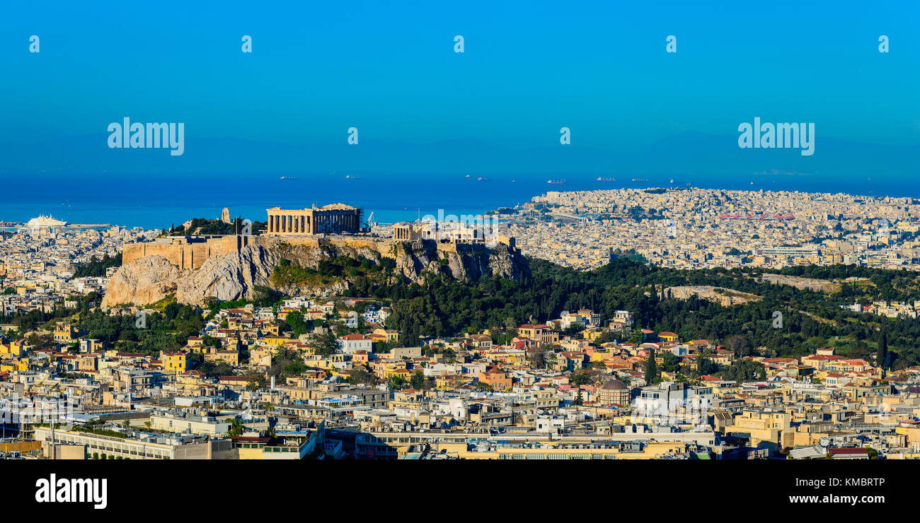 Athens, the capital city of Greece, with view on the Acropolis - Stock Image