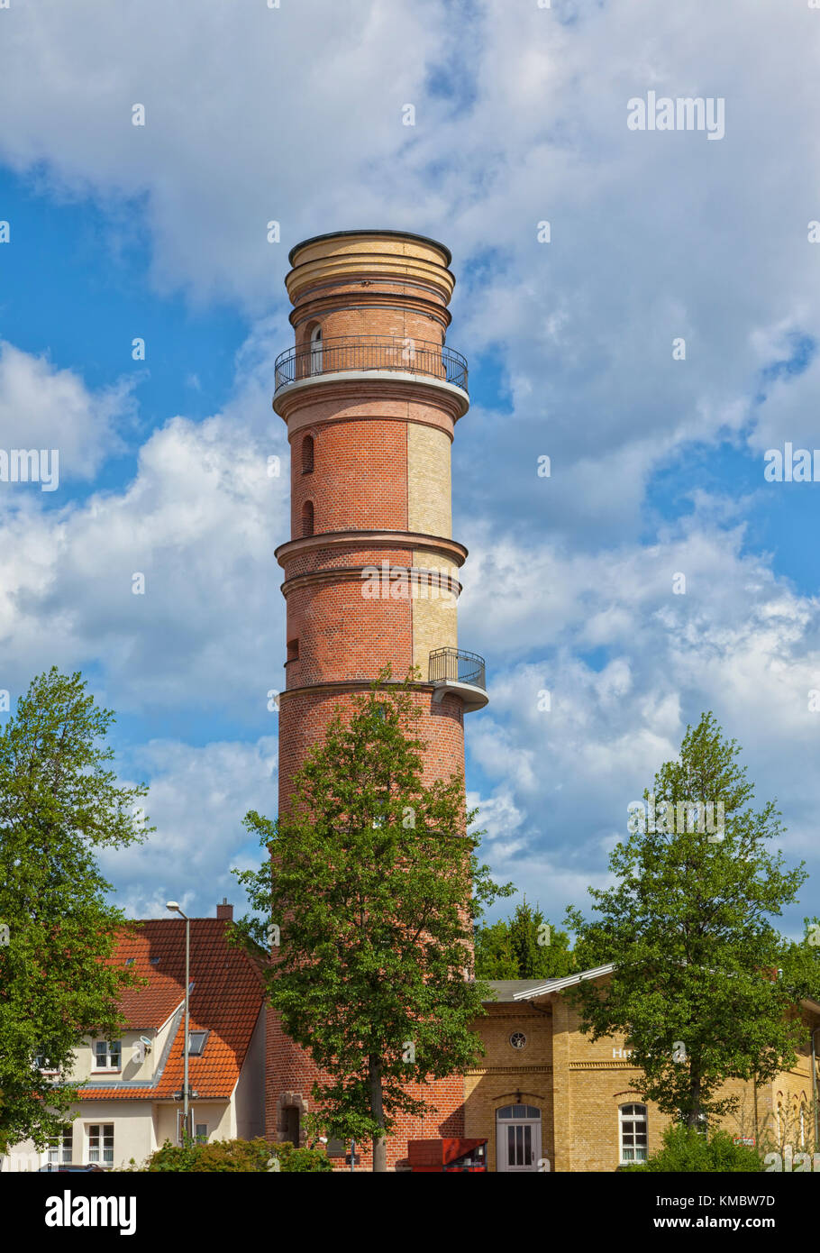 Old lighthouse, Lübeck-Travemümde, Germany - Stock Image