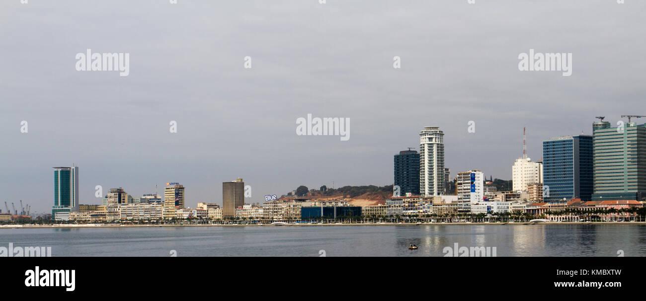 View of bay of Luanda, capital of Angola - Stock Image