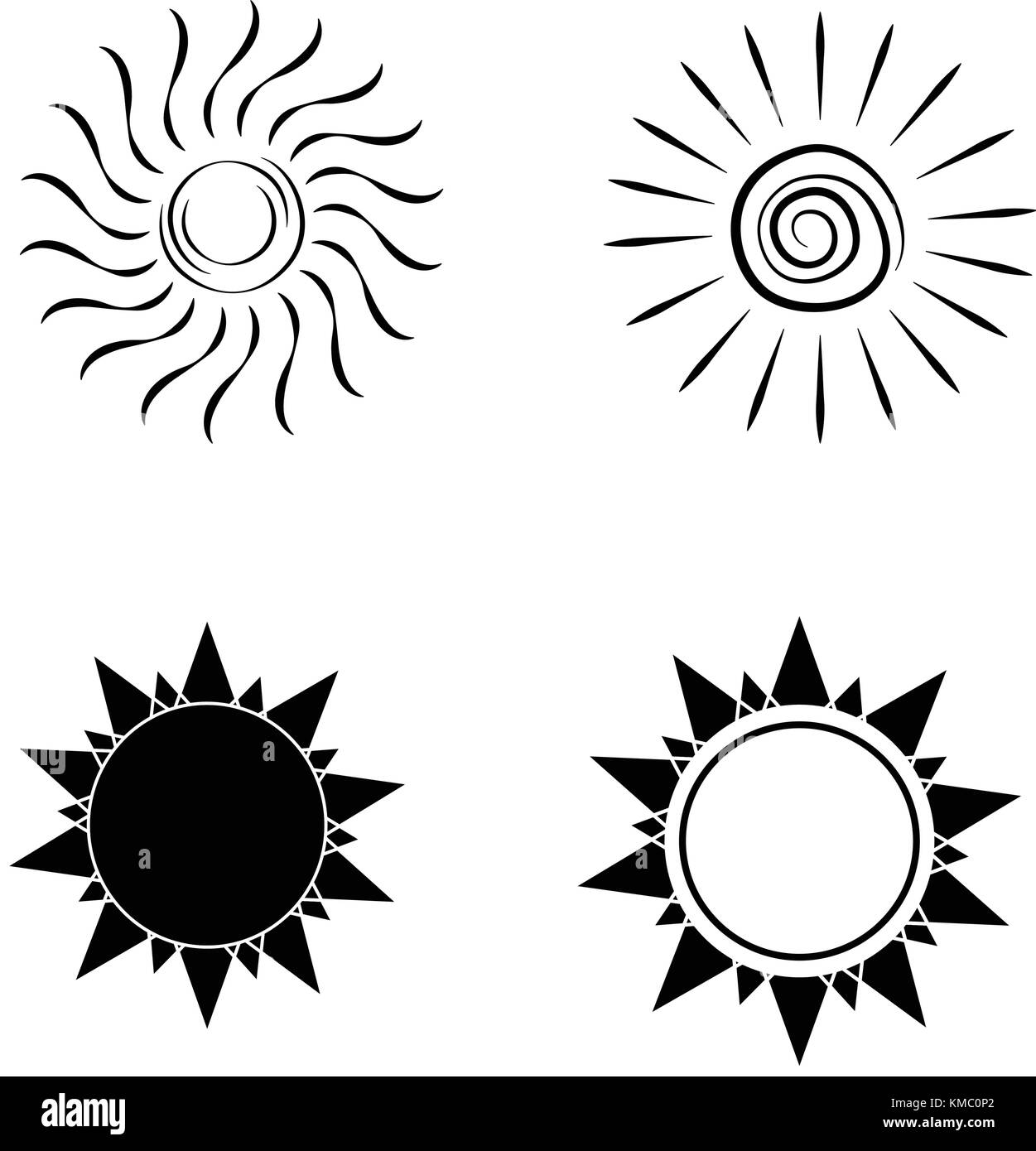 abstract sun shape - Stock Vector
