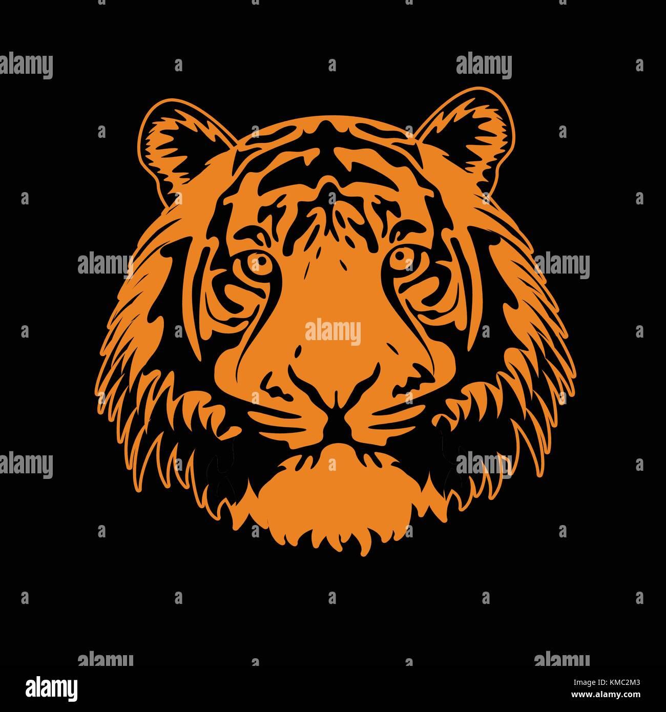Tiger Face - Stock Vector