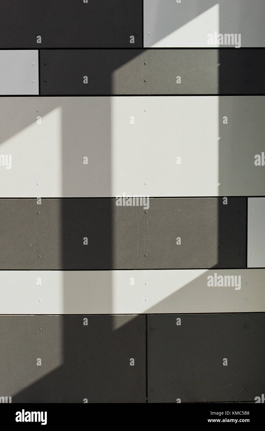 Form, Farbe, Wand, fliese, Struktur, schwarz, weiß, Lamelle, Sonne - Stock Image