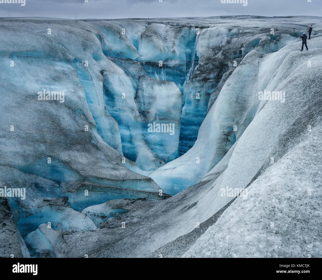 Breidamerkurjokull Glacier, Iceland - Stock Image