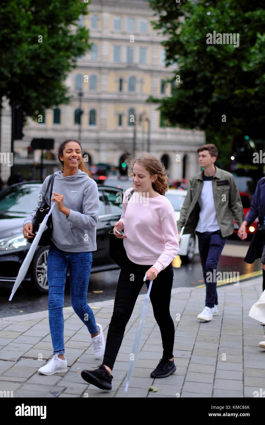 nude teen girls walking in street