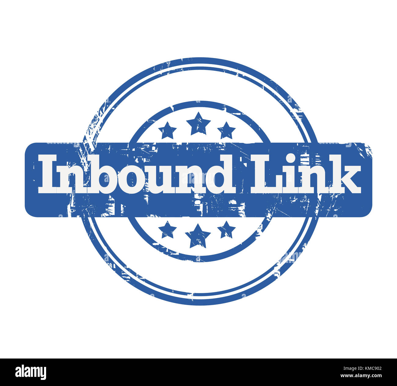 SEO Inbound Link stamp with stars isolated on a white background. - Stock Image