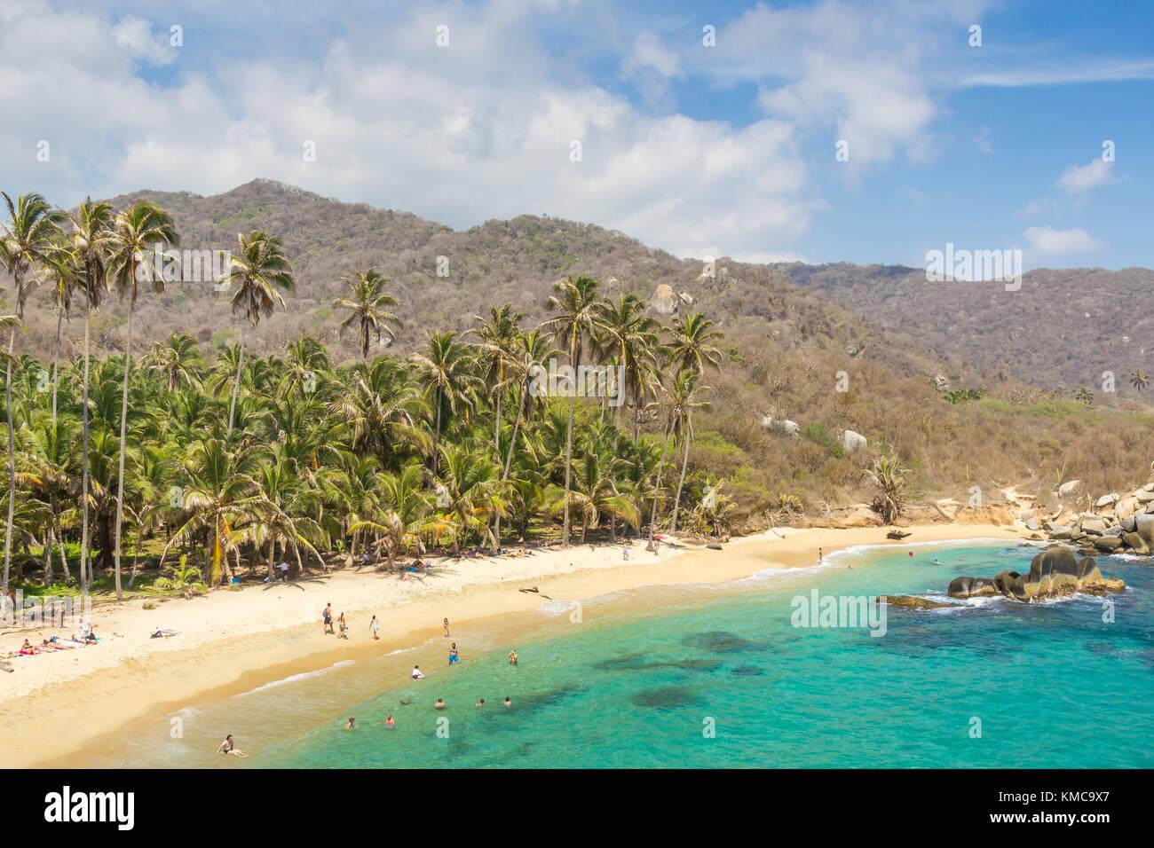 Cabo San Juan del Guia Beach | Parque Tayrona | Colombia - Stock Image