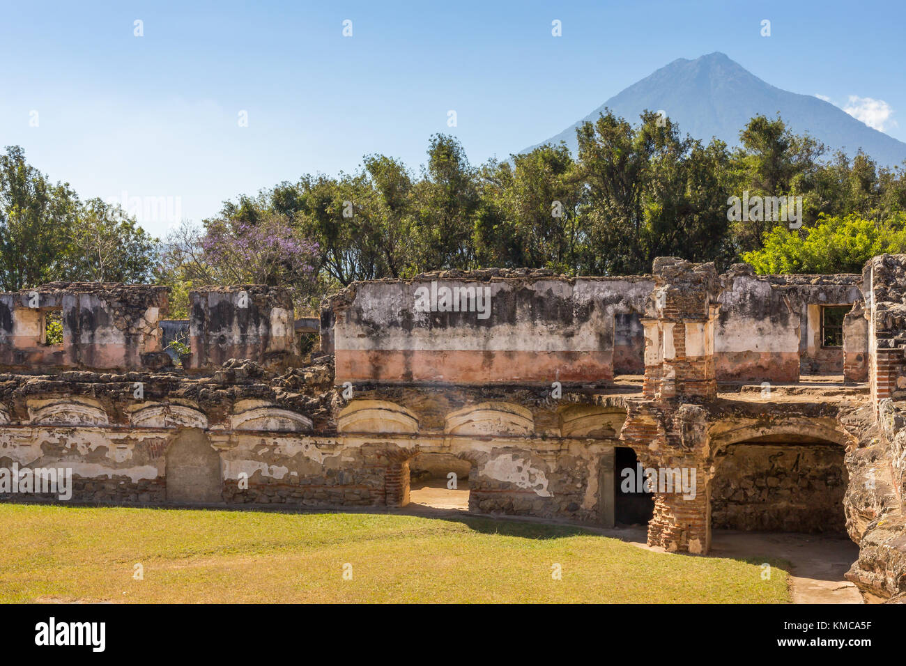 Ruins of the Recollecton convent | Antigua | Guatemala - Stock Image