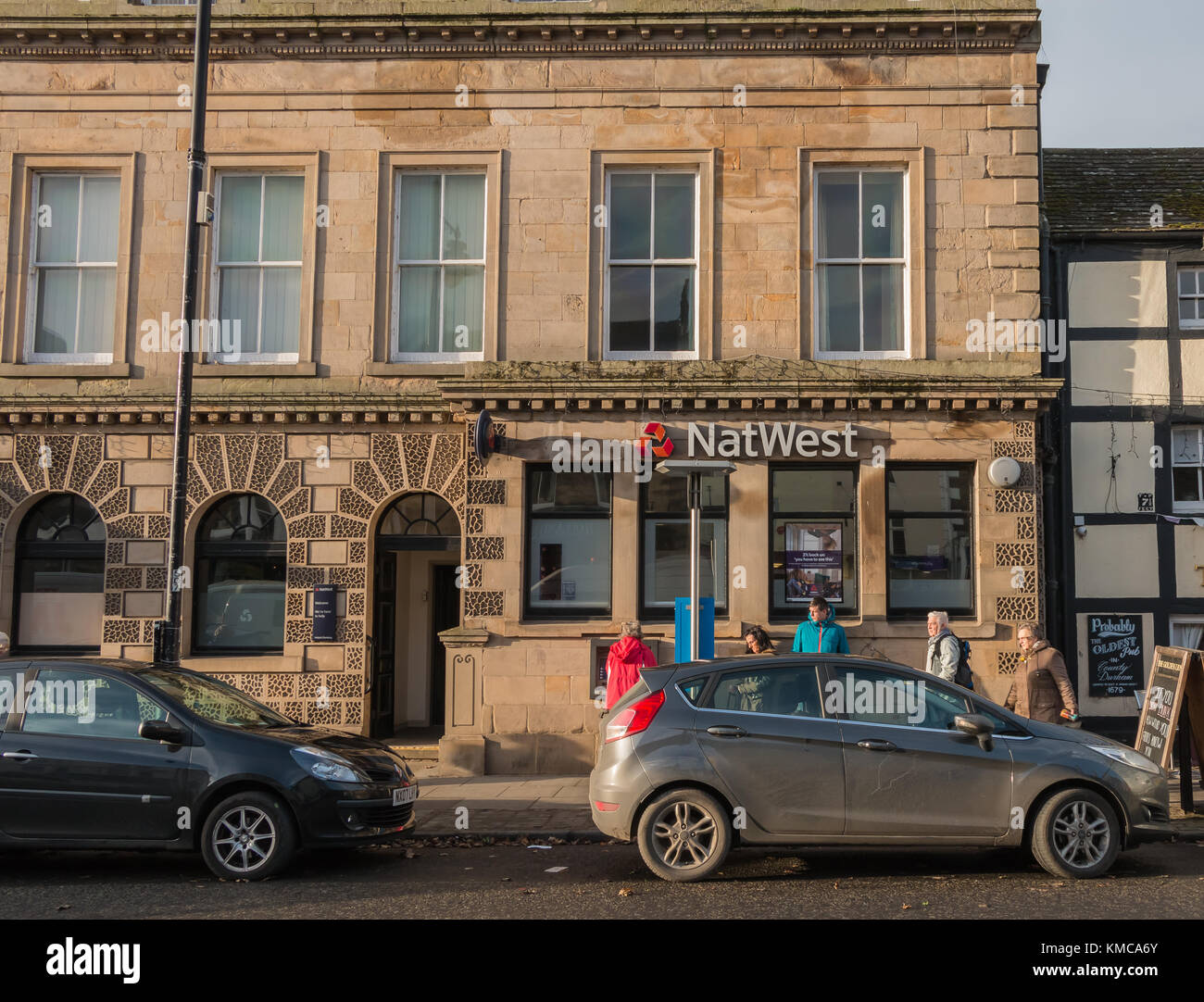 The Barnard Castle branch of the National Westminster Bank, one of 197 branches scheduled for closure in May 2018. - Stock Image