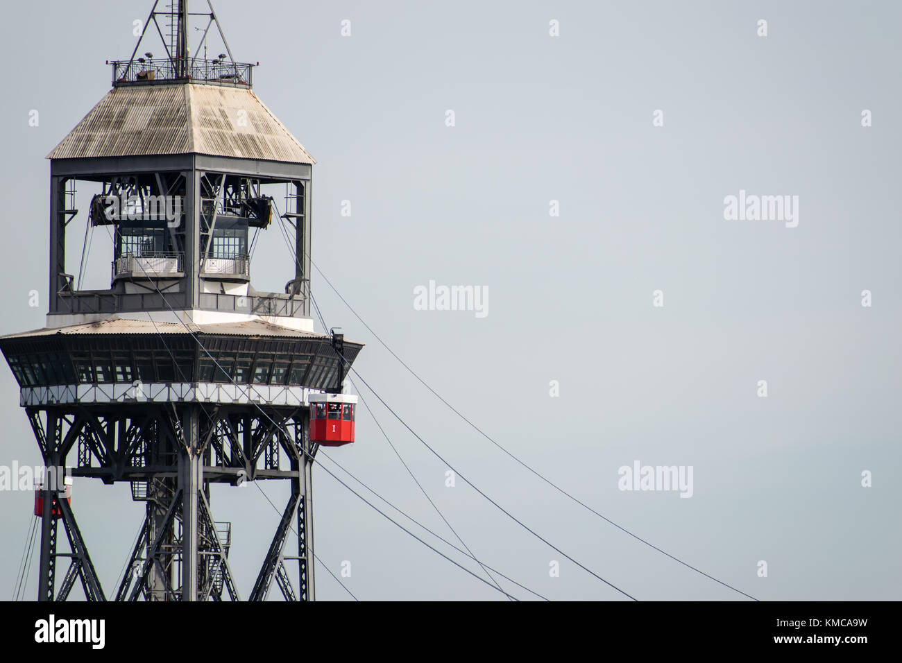 Barcelona Cable Car - Stock Image
