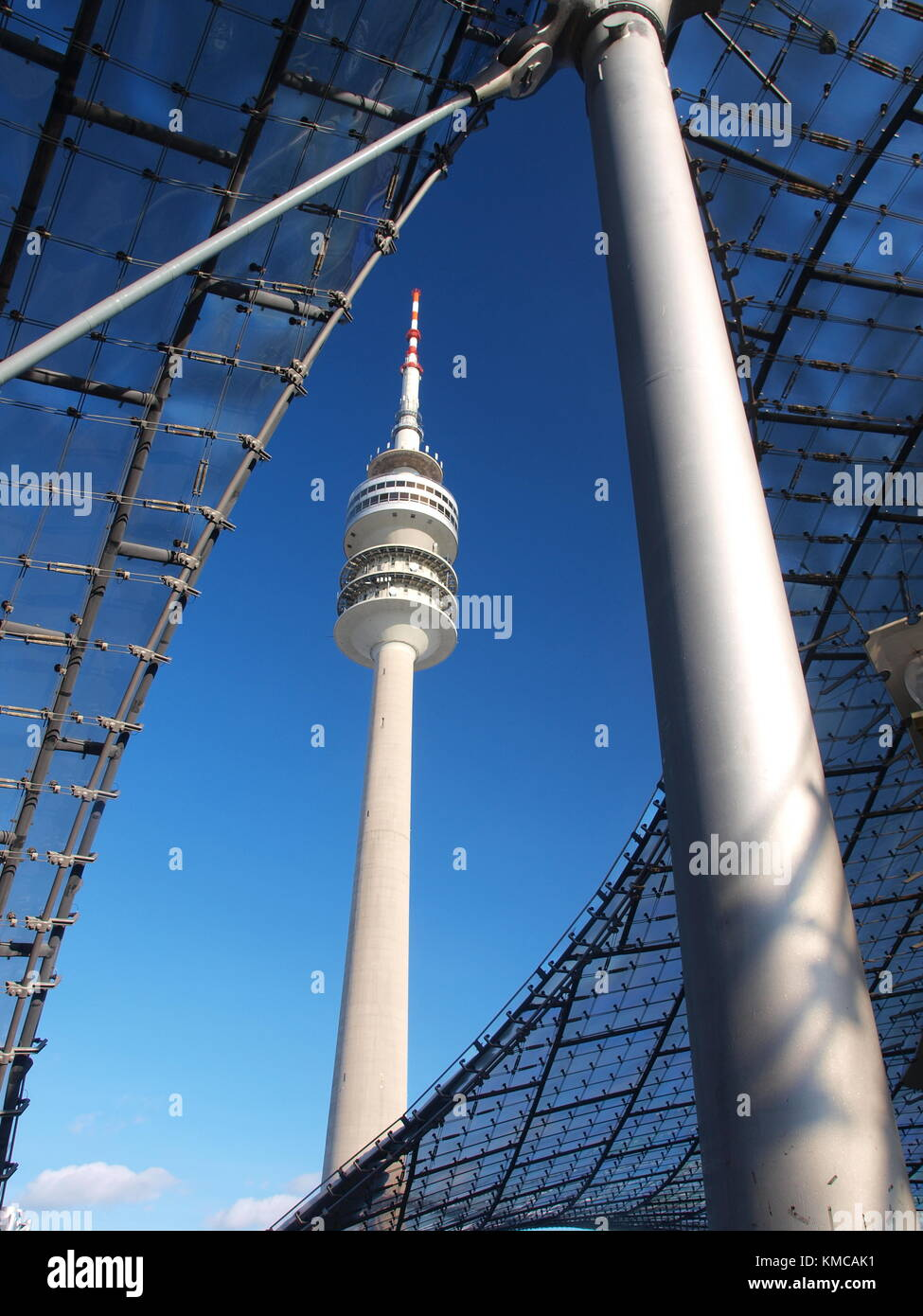 Olympic Tower, Olympic Park, Munich - Stock Image