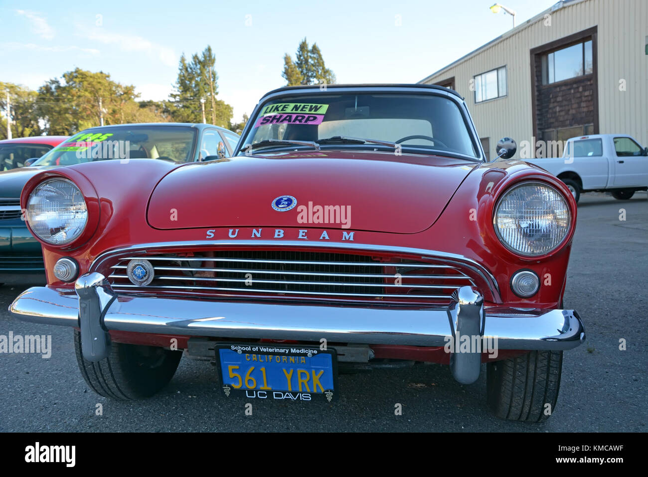 WILLITS, CA, USA - AUGUST 15: Old style car in Willits on August 15 ...
