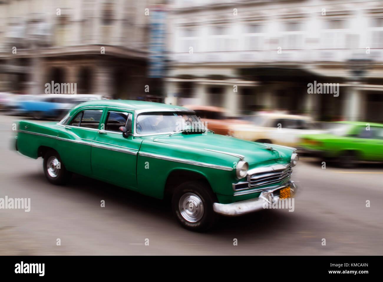 Oldtimer in Havanna Cuba Stock Photo
