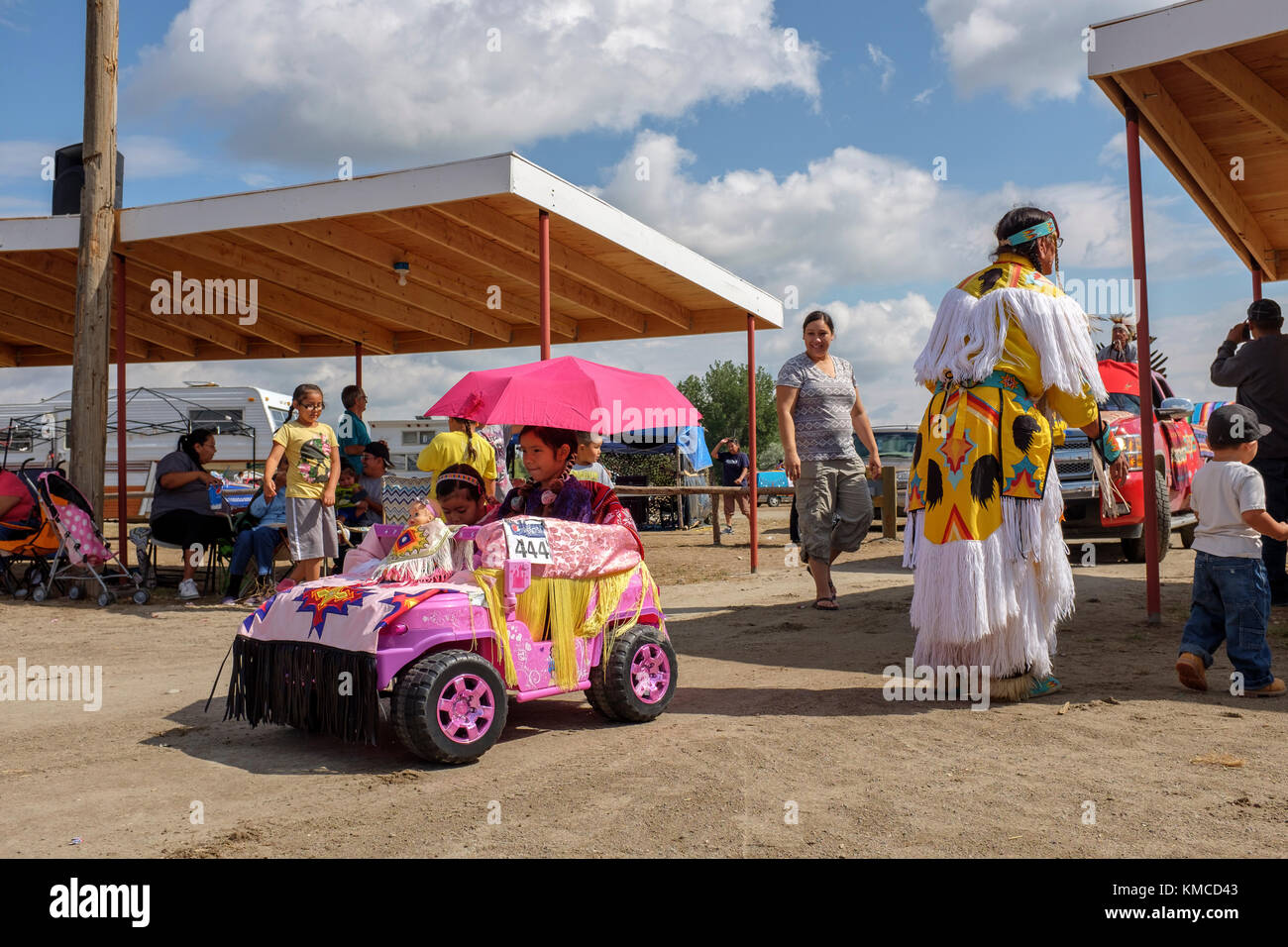 Familes At The Powwow Decorate Their Cars Trucks And Horses With