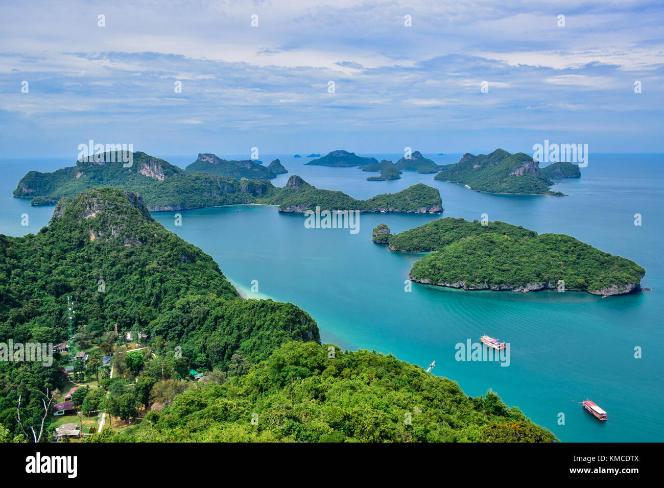 Beautiful seascape of Ang Thong Island National Marine Park near Samui island, Thailand, one of the most famous tourist vacation destination Stock Photo