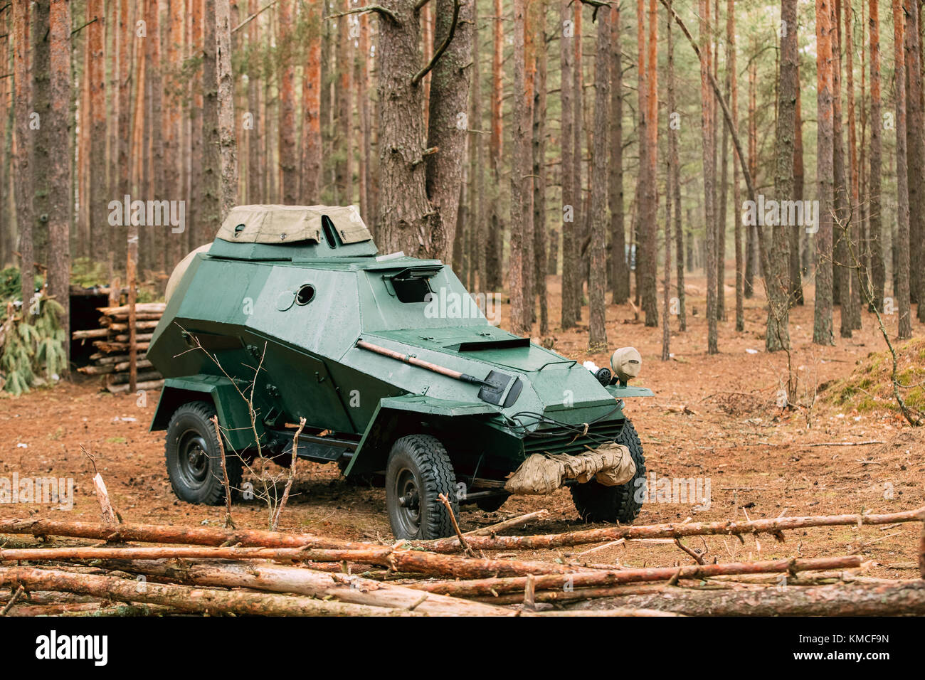 Russian Armored Soviet Scout Car Ba 64 Of World War Ii In Autumn Stock Photo Alamy