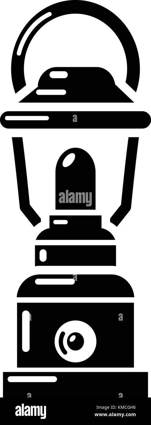 Kerosene lamp icon, simple style - Stock Vector
