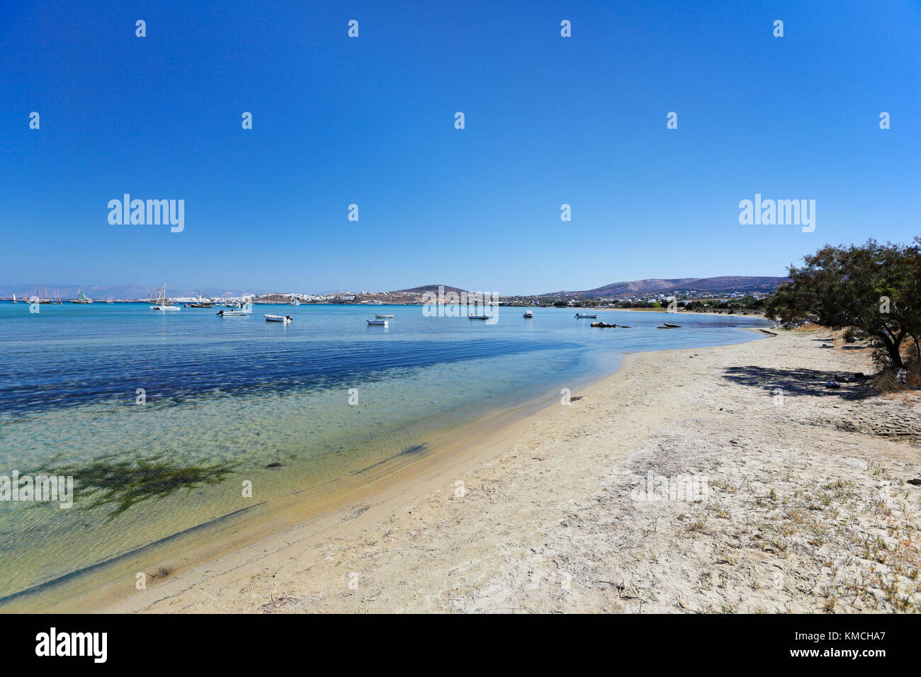 Kolymbithres beach in Paros island, Greece - Stock Image