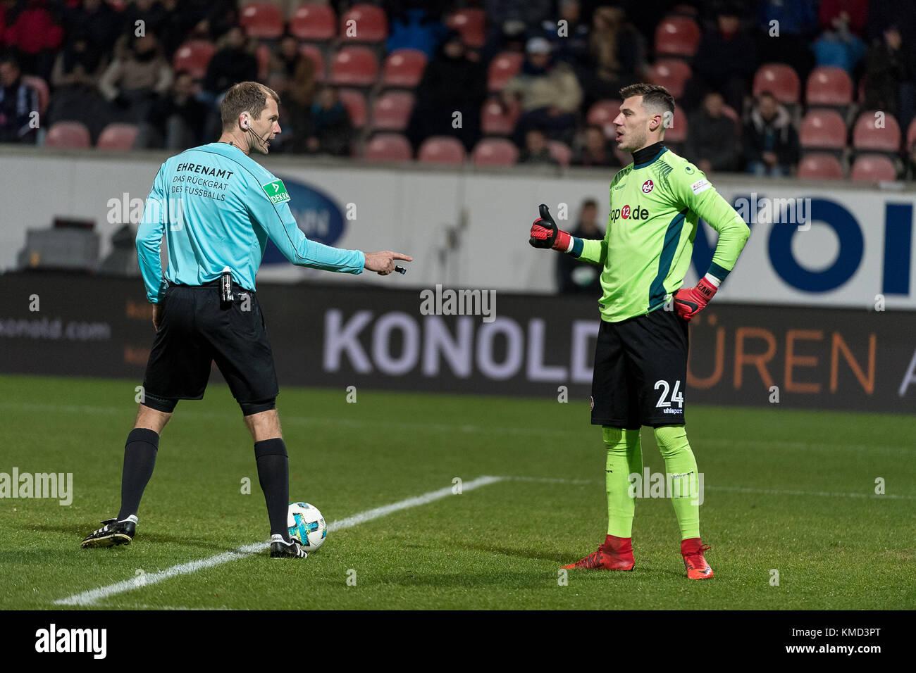 Marius Mueller, Torwart (1.FC Kaiserslautern #24), 1.FC Heidenheim 1846 vs 1.FC Kaiserslautern,  Herren, Fussball, - Stock Image
