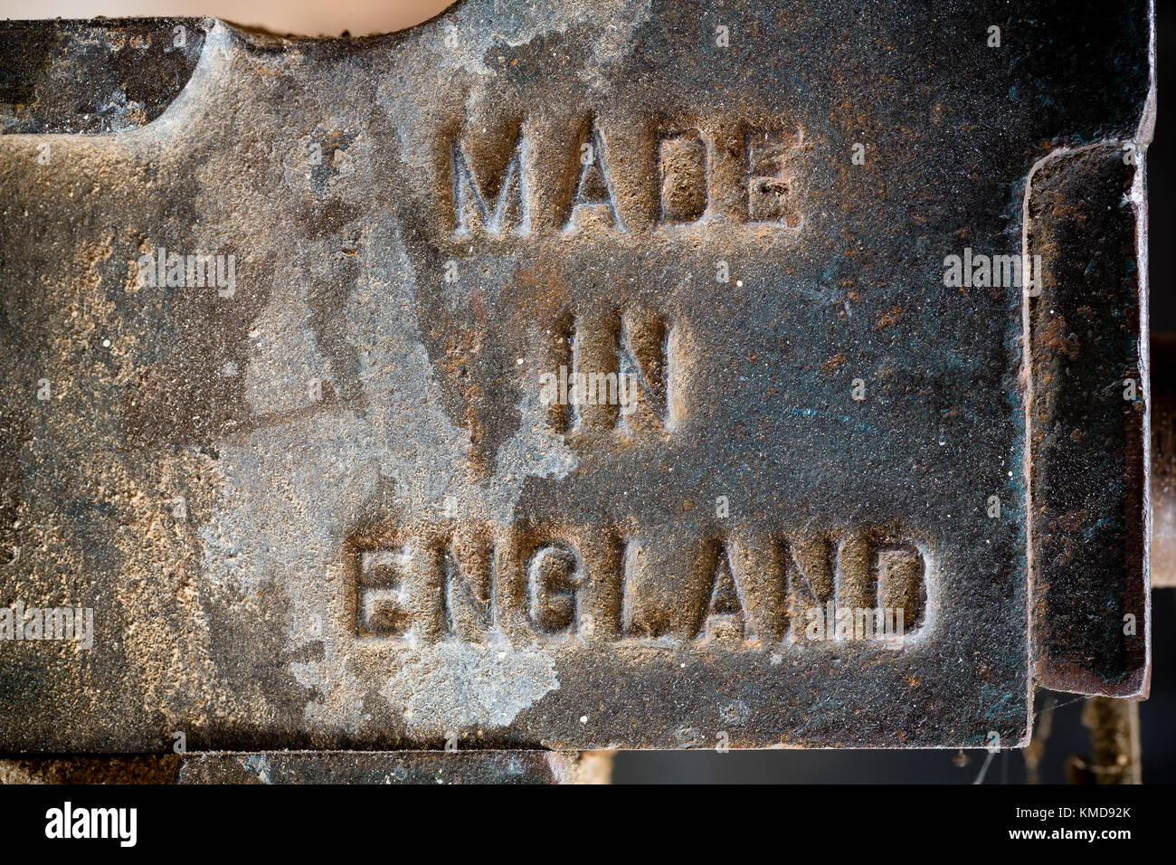 Made in England - embossed on the side of a vice - Stock Image