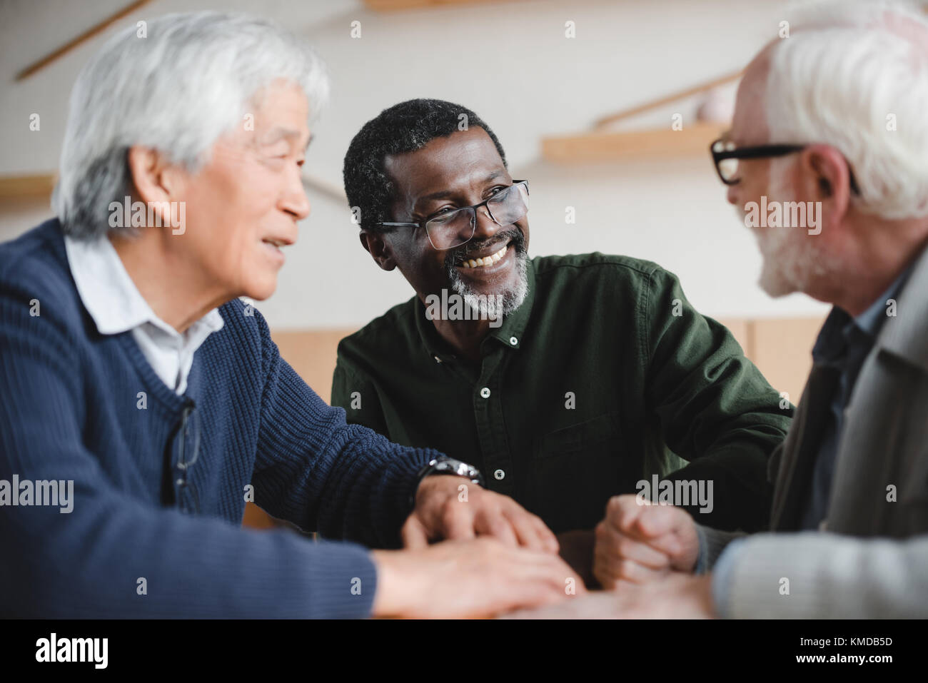 senior friends spending time together - Stock Image