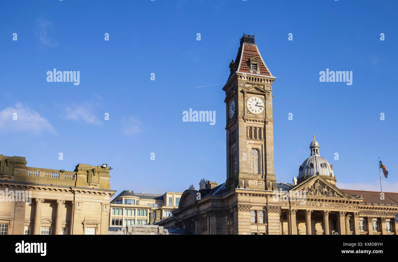 Big Brum Clock Tower and Museum of Arts in Birmingham United Kingdom - Stock Image