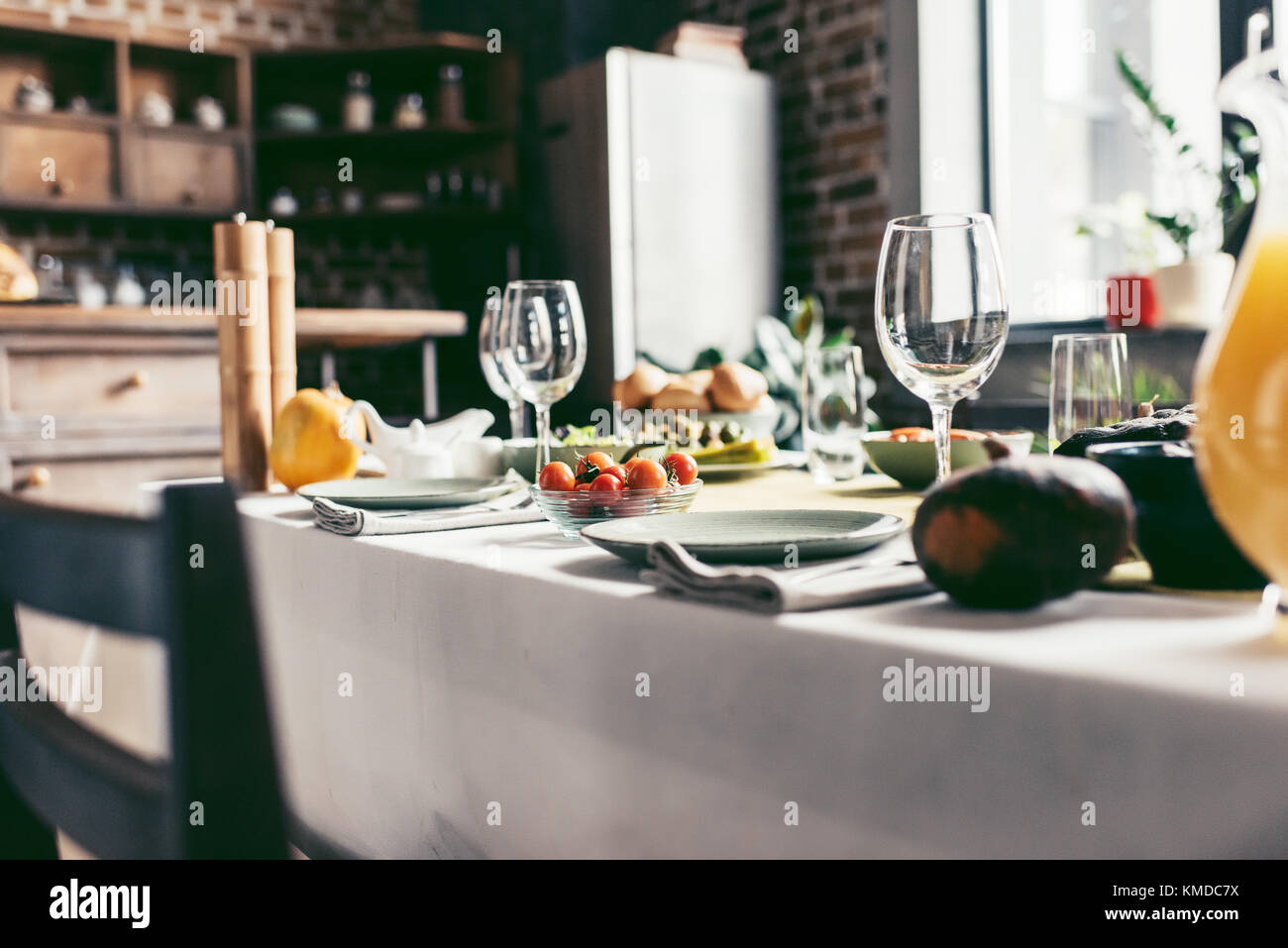 holiday dinner - Stock Image