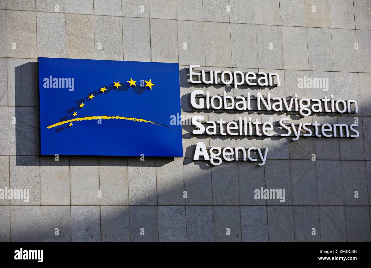 European GNSS Agency, GSA - European Global Navigation Satellite Systems Agency - Stock Image