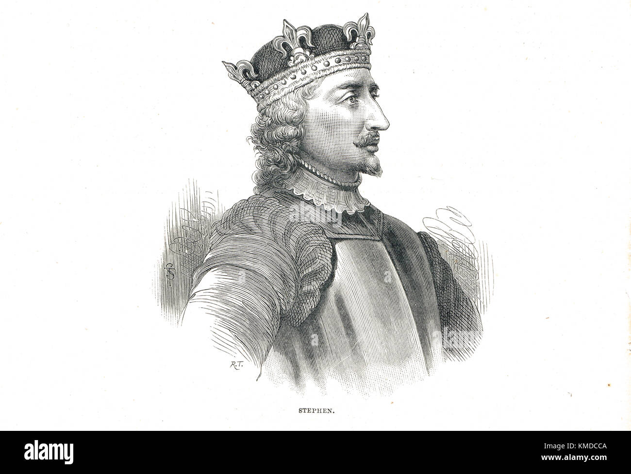Stephen, King of England (1092-1154) Reigned 1135-1154 - Stock Image