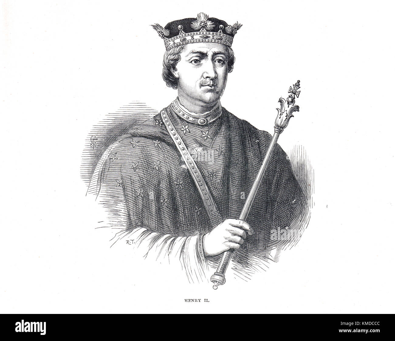 `King Henry II of England, 1133-1189, reigned 1154-1189 - Stock Image