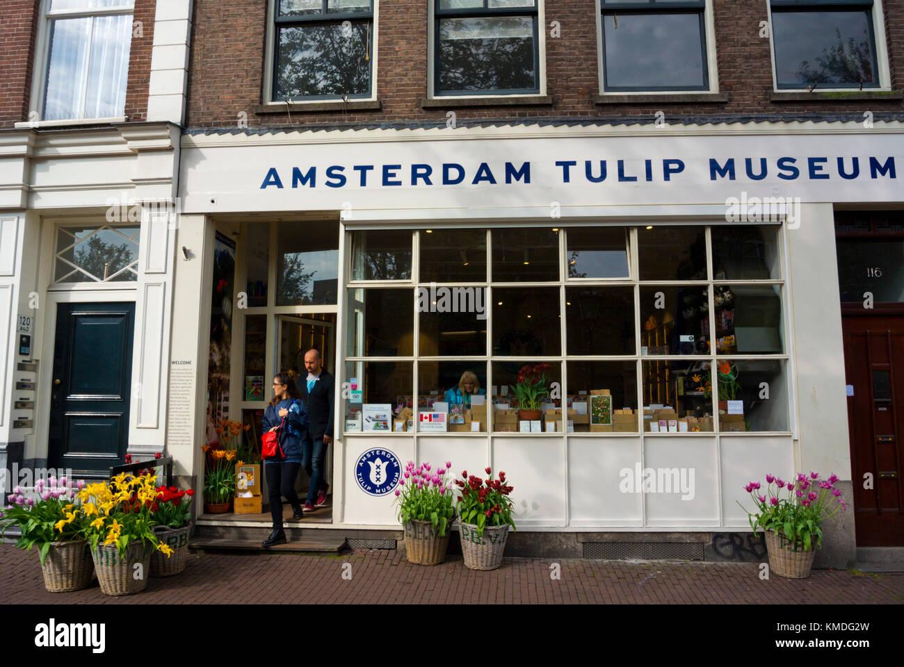Tulip museum, Prinsengracht, Jordaan, Amsterdam, The Netherlands - Stock Image