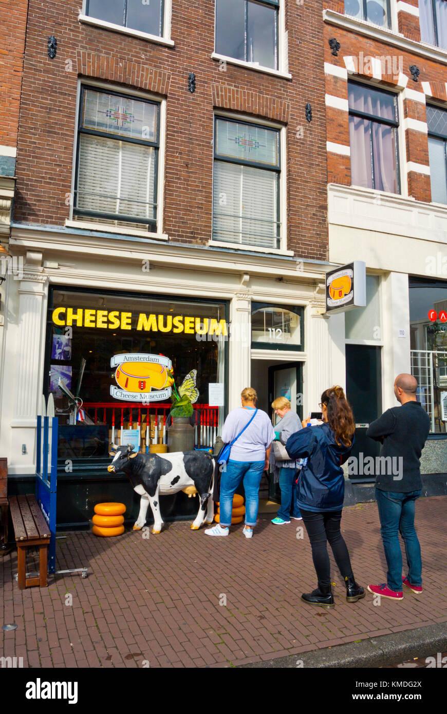 Cheese museum, Prinsengracht, Jordaan, Amsterdam, The Netherlands - Stock Image