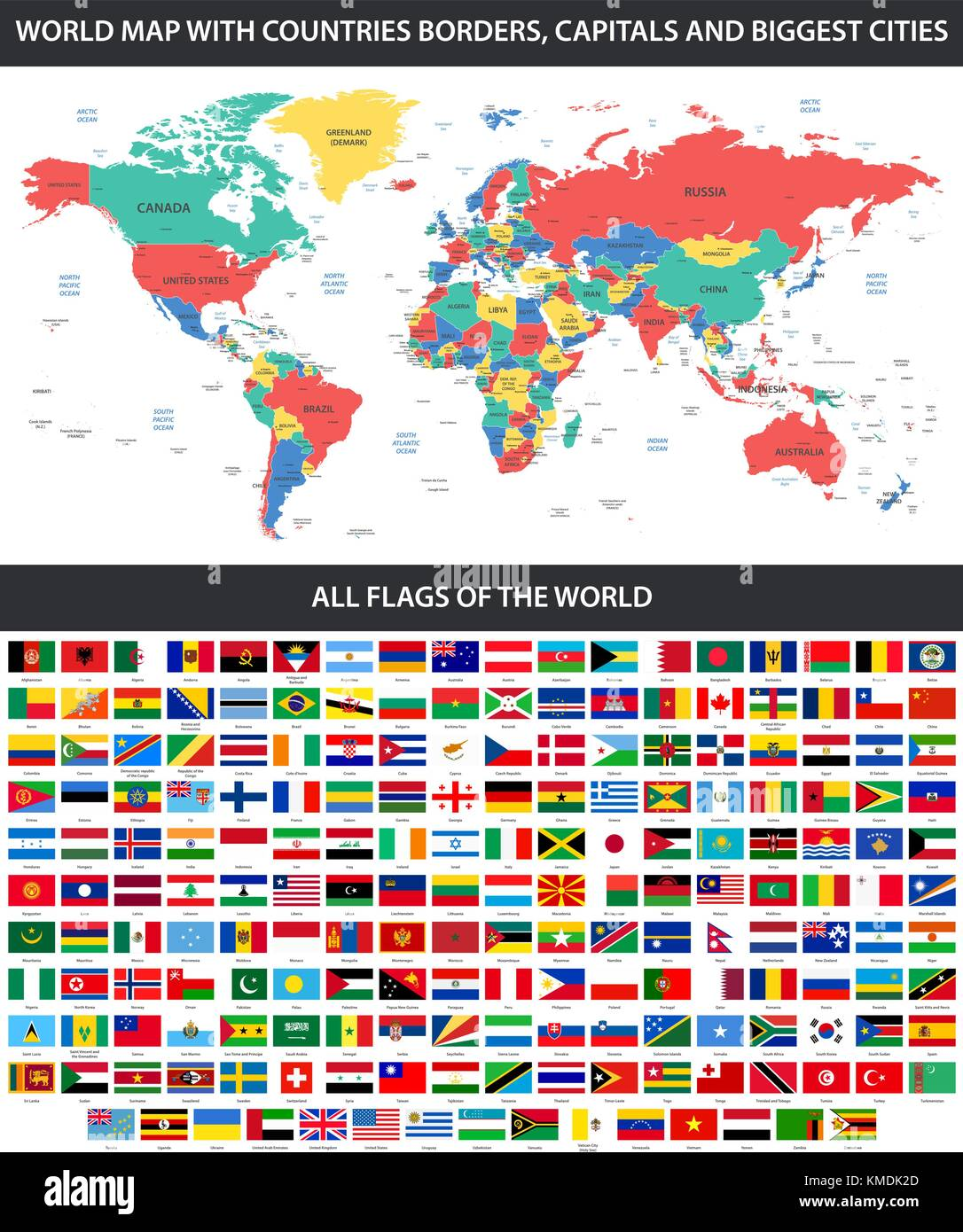 All flags of the world in alphabetical order and detailed world map all flags of the world in alphabetical order and detailed world map with borders countries large cities gumiabroncs Choice Image