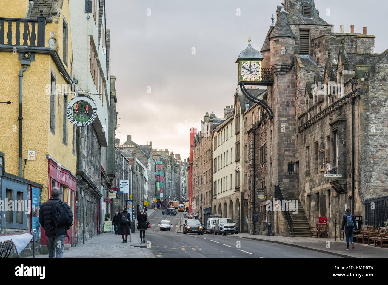 Edinburgh Royal Mile, Canongate, Edinburgh, Scotland, UK - Stock Image