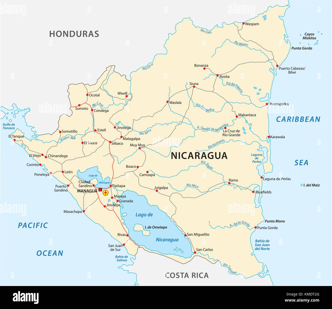 Nicaragua Managua Road Stock Photos & Nicaragua Managua Road ... on tegucigalpa on map, montevideo on map, mbabane on map, makassar on map, taegu on map, cayman islands on map, panama on map, valledupar on map, havana on map, kampala on map, kingston on map, cancun on map, toronto on map, san juan on map, libreville on map, rio de janeiro on map, santiago on map, santo domingo on map, bogota on map, nassau on map,
