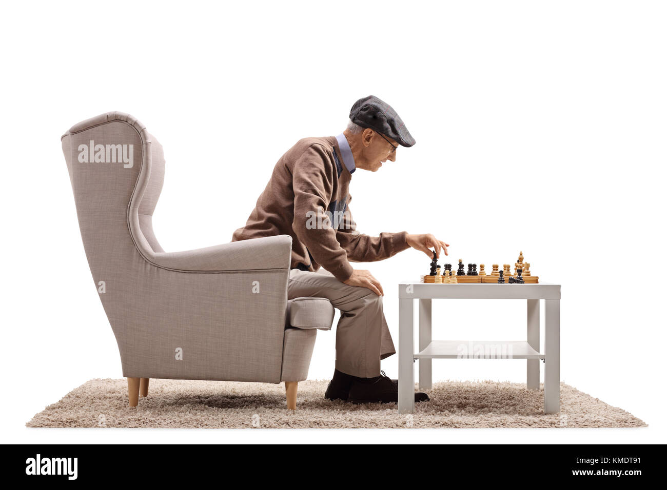 Old Man Playing With Himself