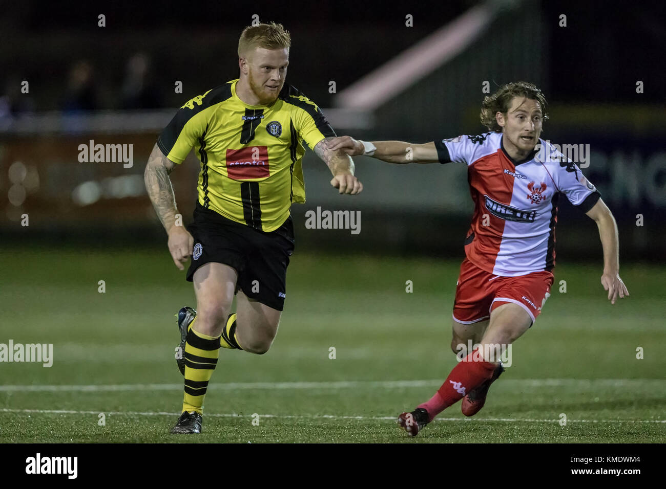 Terry Kennedy (Harrogate Town) runs with the ball during the National League North game against Kidderminster Harriers. - Stock Image