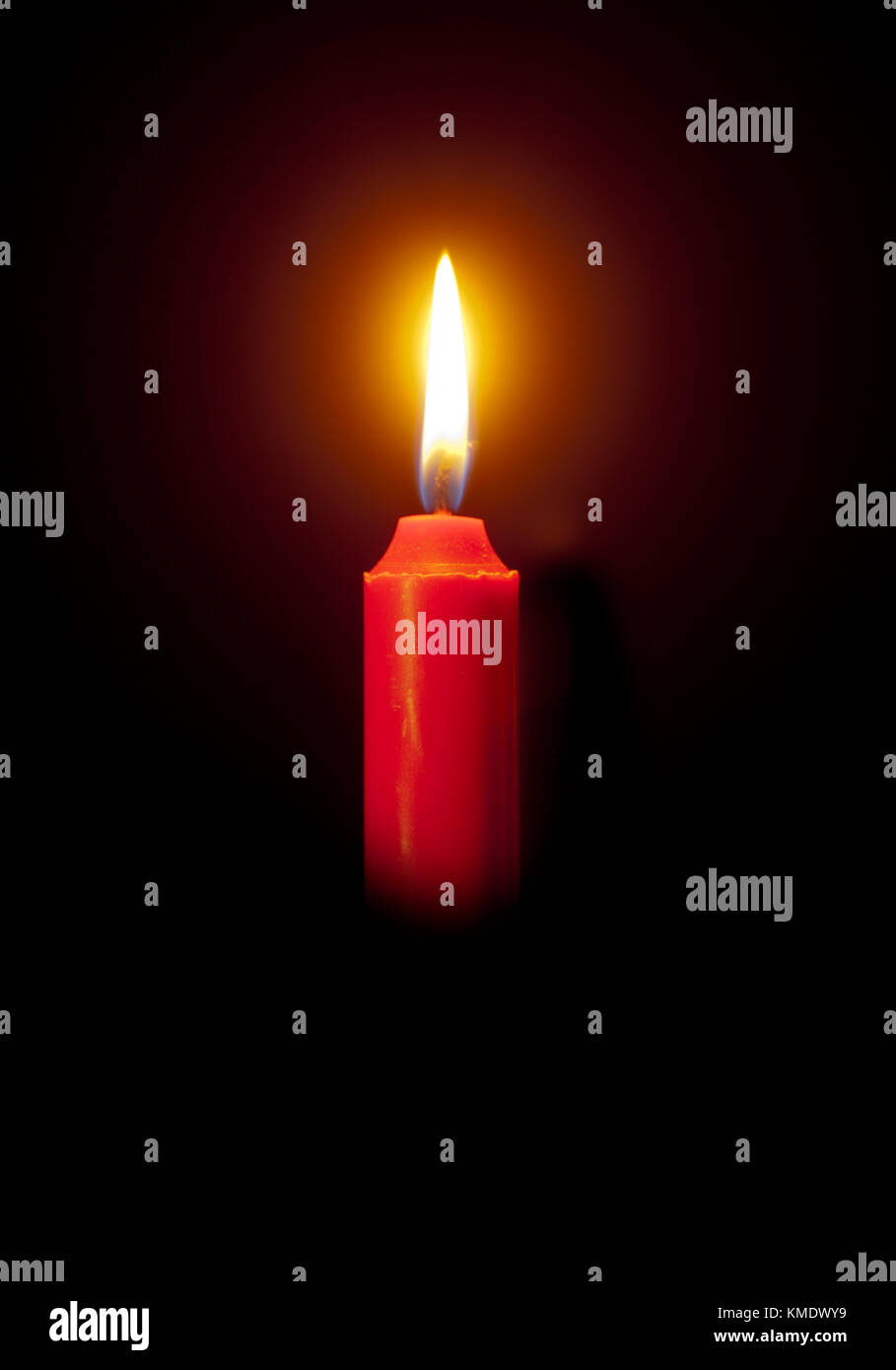 Candle,light in the darkness - Stock Image