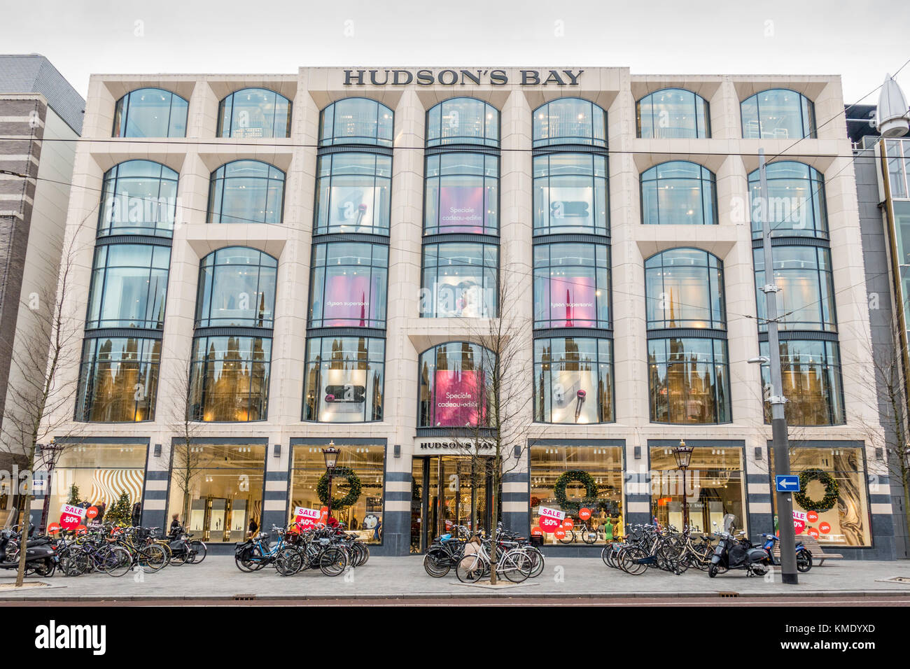 Exterior of department store Hudson's Bay on the Rokin in
