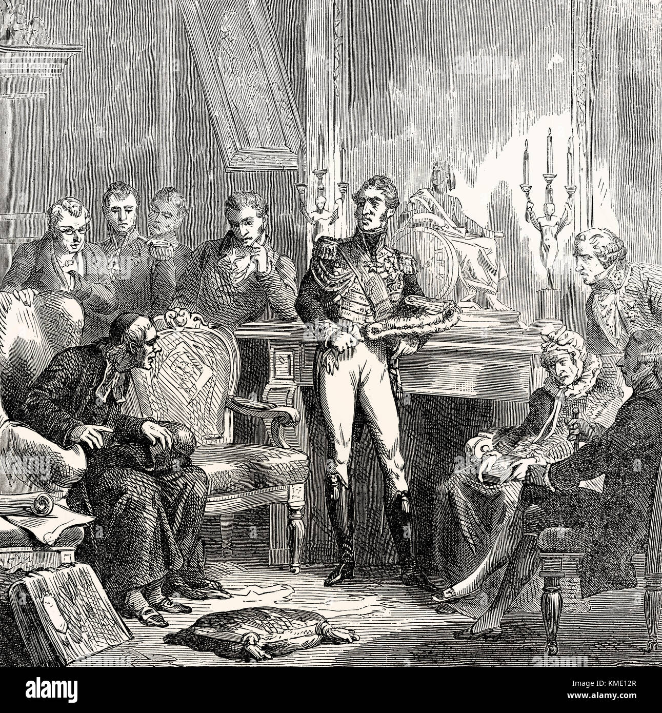 The Jesuits at the court of Charles X Philippe,  1757-1836, King of France - Stock Image